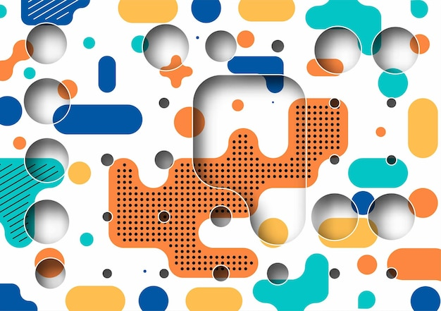 텍스트, 벡터 일러스트 레이 션 디자인의 공간을 가진 추상 배너 하프톤 원형 아트 포스터.