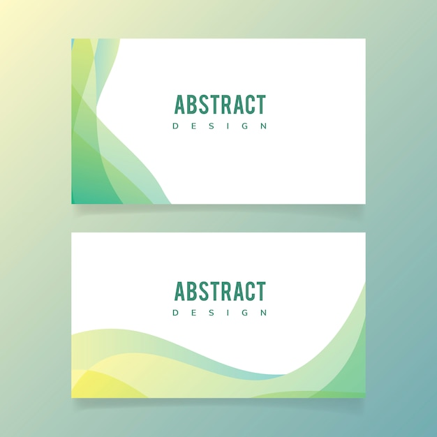 Abstract banner illustration set