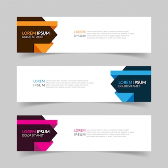 Abstract banner modern template