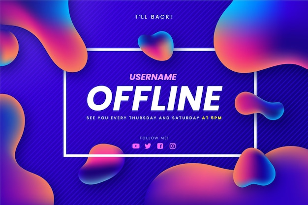 Abstract banner for offline twitch