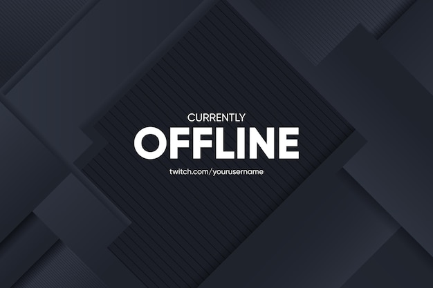 Abstract banner offline twitch