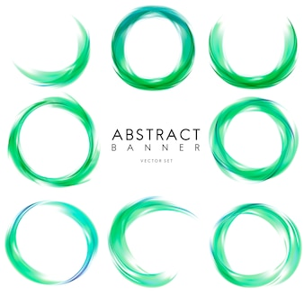 Abstract banner set in green