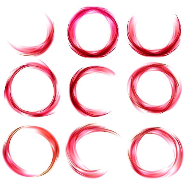 赤で設定された抽象的なバナー