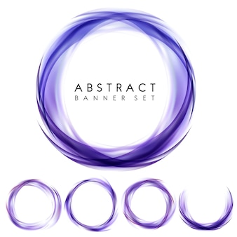 Abstract banner set in purple