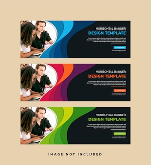 Abstract banner template design with space for photo.