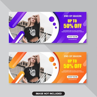 Abstract banner template design.