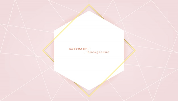 Abstract banner template on pink background.