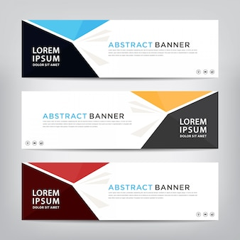 Abstract banner template set