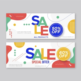 Abstract banner template with different shapes