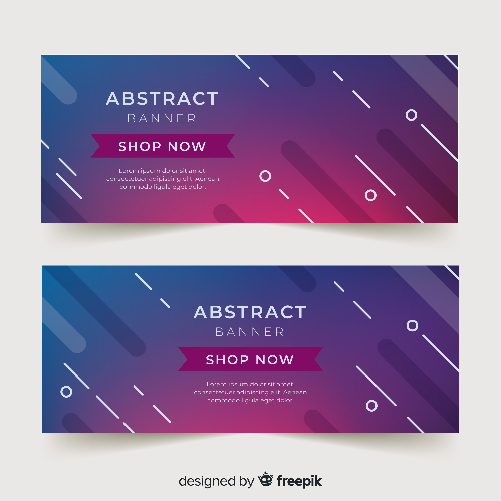 Abstract banner template
