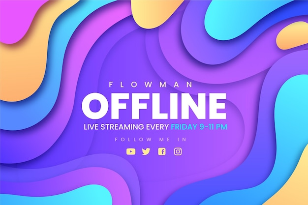 Abstract banner for twitch offline