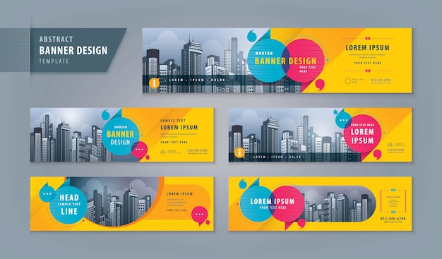 Abstract banner web set