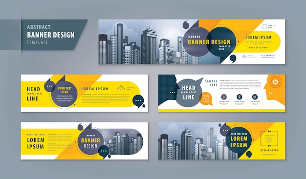 Abstract banner web template set