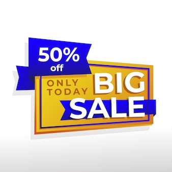 Abstract banner with big sale