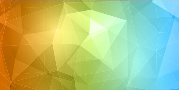 Abstract banner with colourful low poly design
