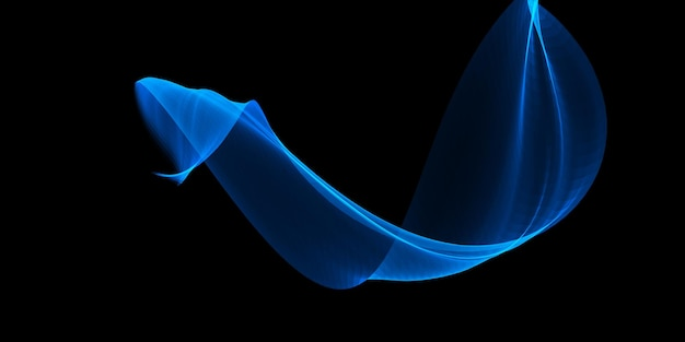 Abstract banner with a flowing blue wave