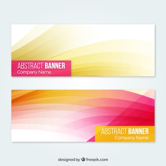 Abstract banner with full color geometric shapes