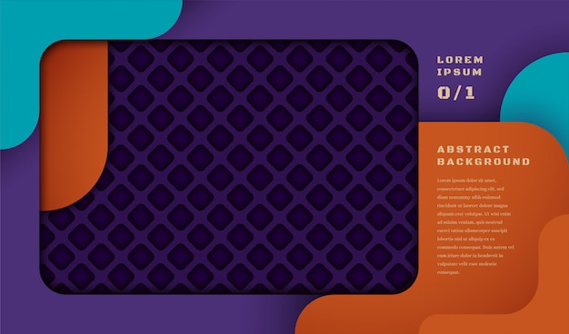 Abstract banner with geometric pattern in cut out style.