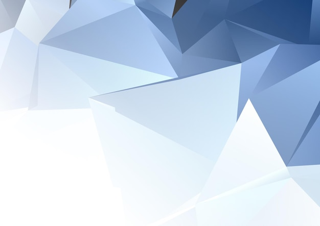 Abstract banner with a low poly design