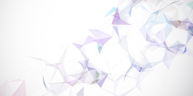 Abstract banner with a low poly plexus design