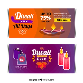 Abstract banners diwali deals