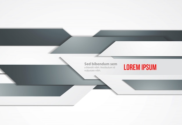 Abstract banners. gray shapes modern geometric vector template.