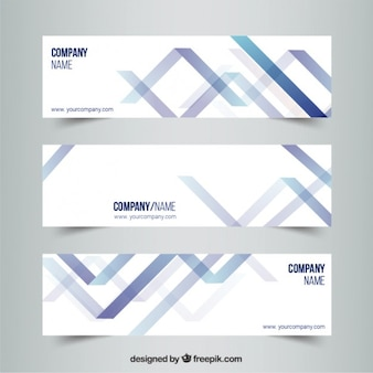 Abstract banners in modern style Free Vector