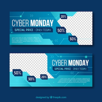 Abstract banners of cyber monday
