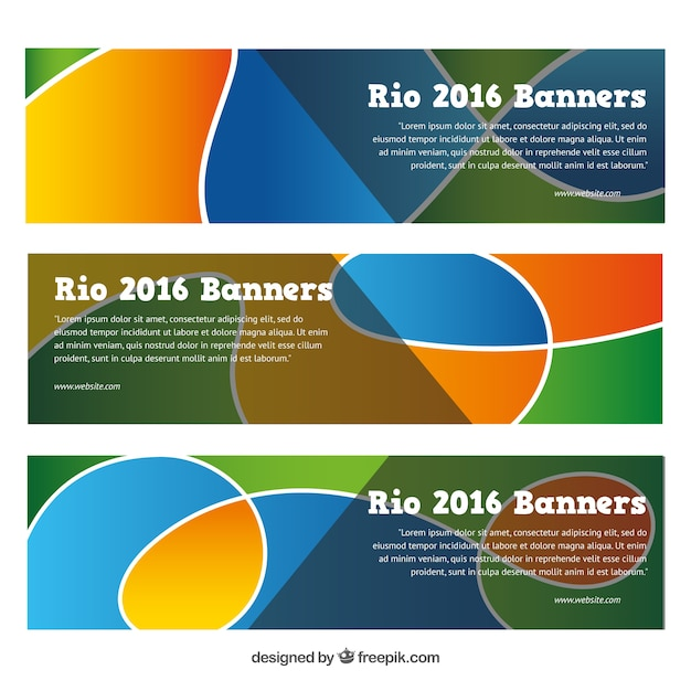 Abstract banners for rio 2016