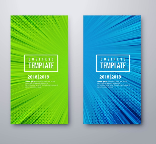Abstract banners set template vector design