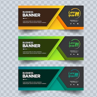 Abstract banners template.