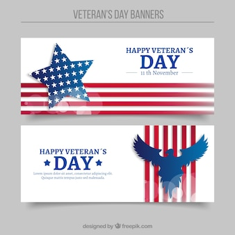 Abstract banners of veterans day