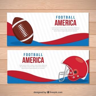 アメリカンフットボールの要素を持つ抽象バナー