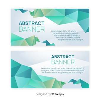 Abstract banners with geometric shapes
