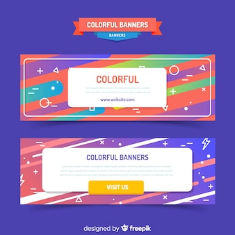 Abstract banners with gradient design