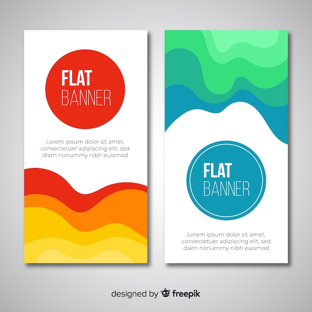 Free Abstract banners with wavy shapes SVG DXF EPS PNG - Svg