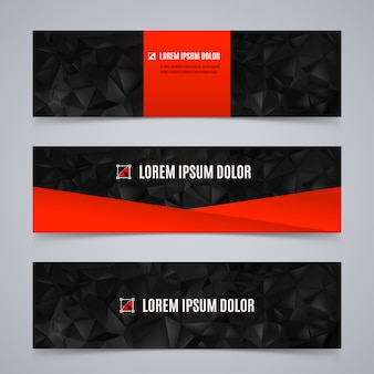 Abstract banners