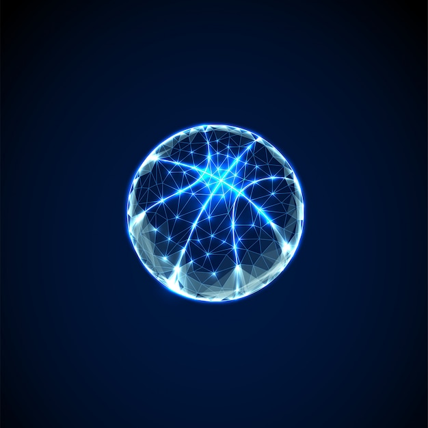 Abstract basketball ball