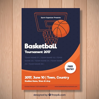 Abstract basketball tournament brochure