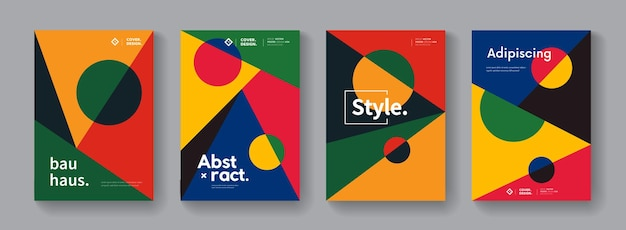 Abstract bauhaus geometric composition. modern cover design.