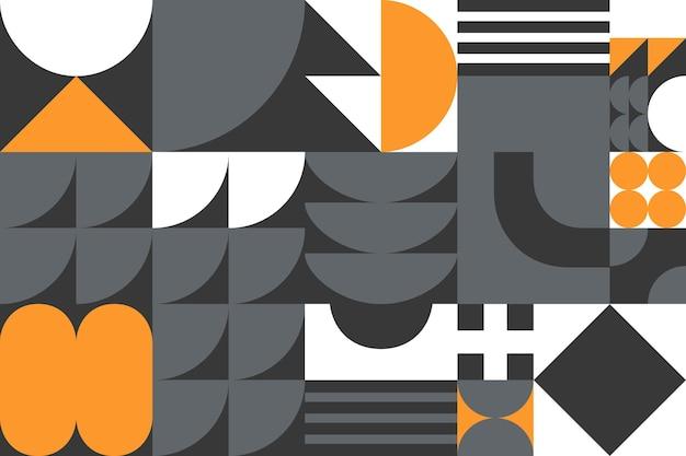 Абстрактный фон геометрический узор баухаус. модный минималистский геометрический дизайн с простыми формами и элементами. современные художественные векторные иллюстрации.