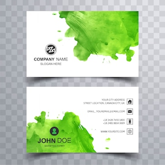 Abstract beautiful business card design