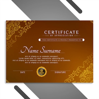 Abstract beautiful certificate template design