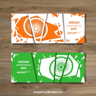 Abstract beautiful india banners