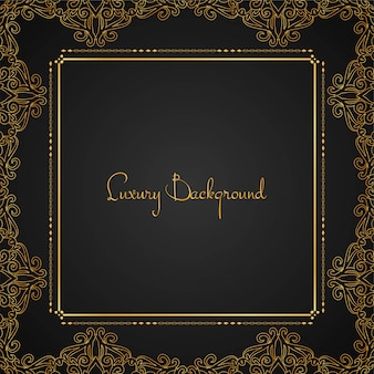 Abstract beautiful luxury frame background