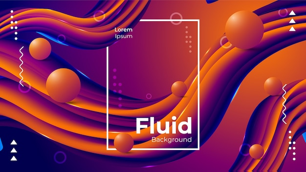 Abstract beautiful modern fluid background