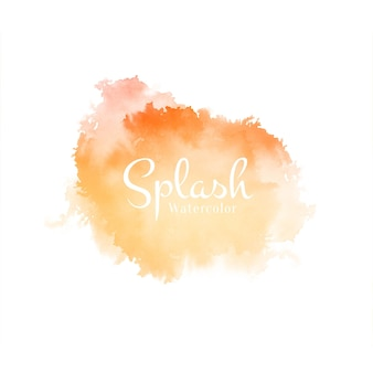 Abstract beautiful watercolor splash design vector