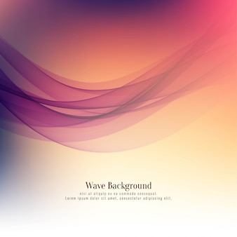 Abstract beautiful wave background design vector
