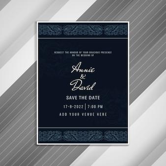 Abstract beautiful wedding invitation card design