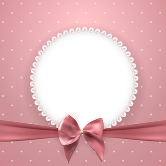 Abstract beautuful background with pearl frame